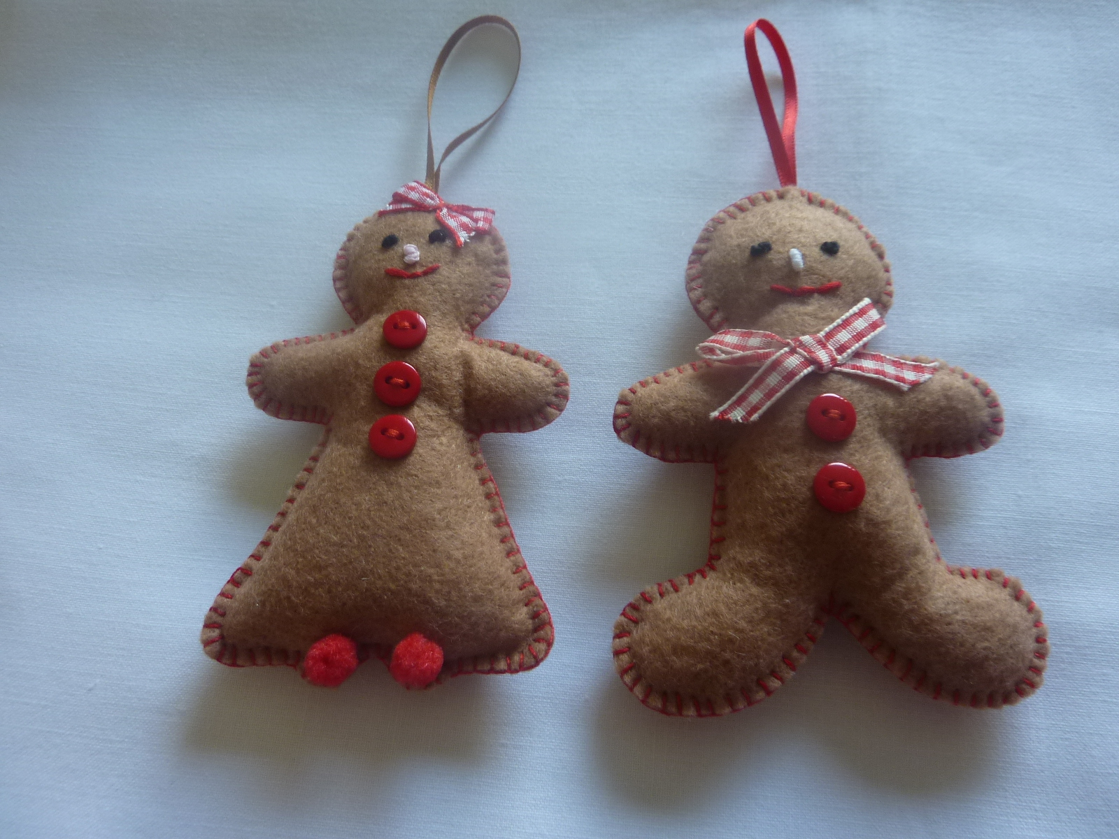 HAND-MADE FELT CHRISTMAS DECORATIONS Made to order - £2.50 each